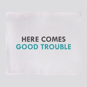 #GOOD TROUBLE Throw Blanket