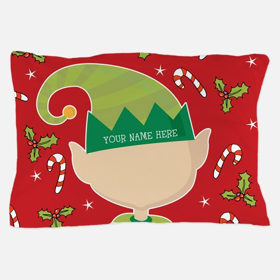 Christmas Elf Face Personalized Pillow Case
