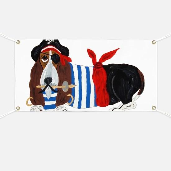 Basset Hound Pirate Banner