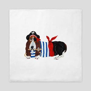 Basset Hound Pirate Queen Duvet