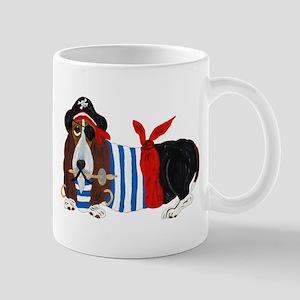 Basset Hound Pirate Mugs