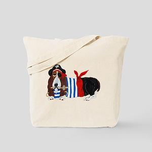 Basset Hound Pirate Tote Bag