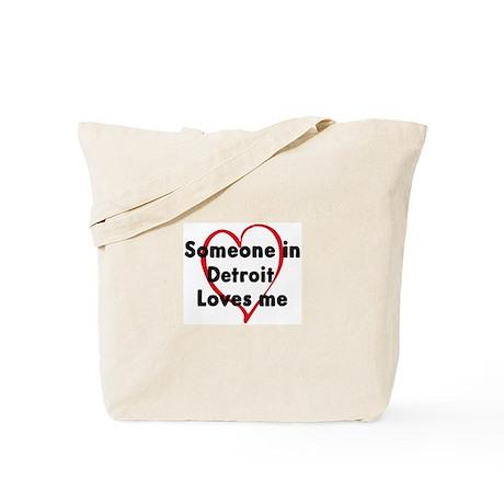 Loves me: Detroit Tote Bag