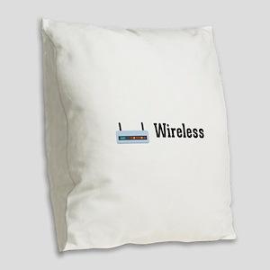 Wireless Burlap Throw Pillow