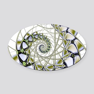Fusion Oval Car Magnet