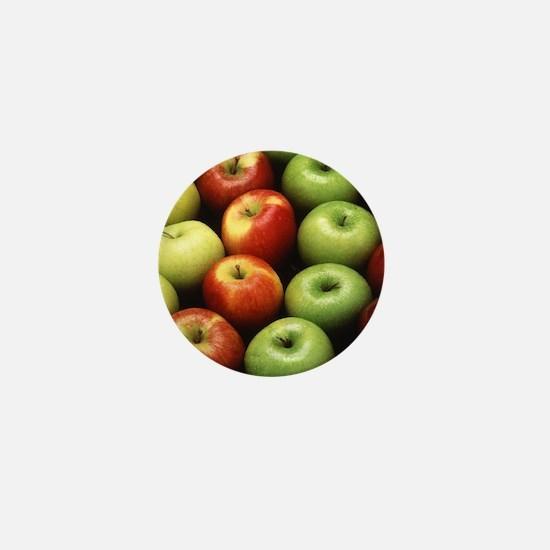 Various Types of Apples Mini Button