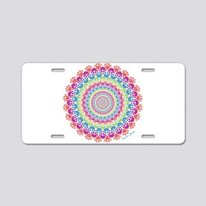 Circle of Paws Aluminum License Plate