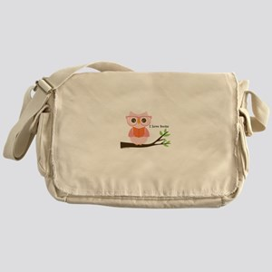 Cute Owl Reading Messenger Bag