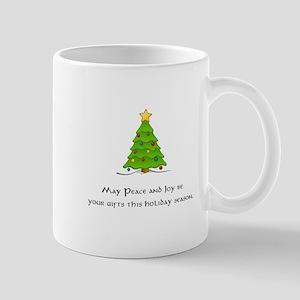 Peace Joy Christmas Tree Gifts Mugs