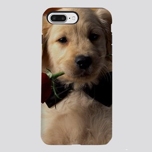 Cute Puppy With Rose iPhone 8/7 Plus Tough Case