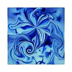 Blue Flower Swirl Queen Duvet