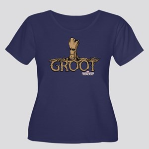 GOTG Com Women's Plus Size Scoop Neck Dark T-Shirt