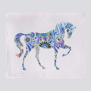 Cool Colorful Horse Throw Blanket