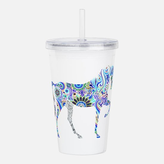 Cool Colorful Horse Acrylic Double-wall Tumbler