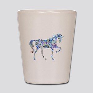 Cool Colorful Horse Shot Glass