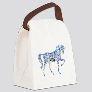 Cool Colorful Horse Canvas Lunch Bag