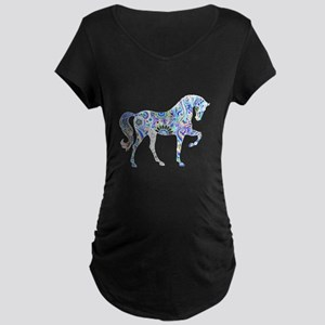 Cool Colorful Horse Maternity T-Shirt