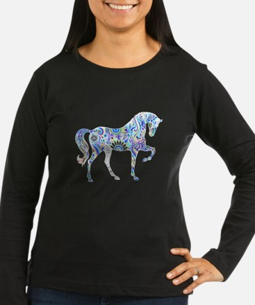 Cool Colorful Horse Long Sleeve T-Shirt