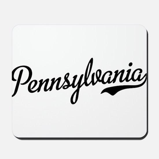 Pennsylvania Script Black Mousepad