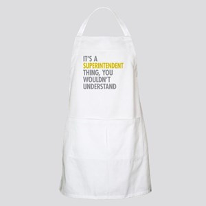 Superintendent Thing Apron