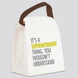 Superintendent Thing Canvas Lunch Bag