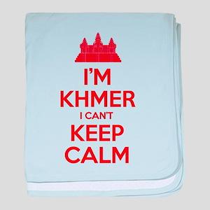 I'm Khmer I Can't Keep Calm baby blanket