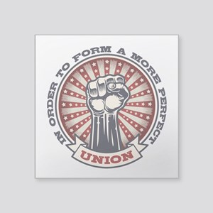 "A More Perfect Union Square Sticker 3"" x 3"""