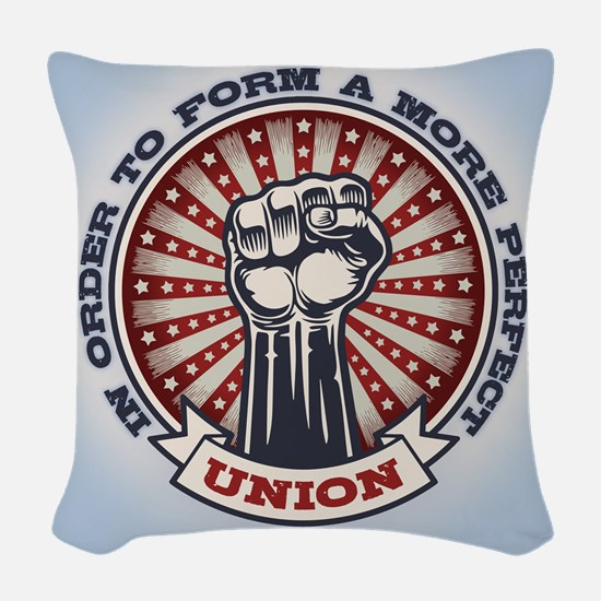 A More Perfect Union Woven Throw Pillow