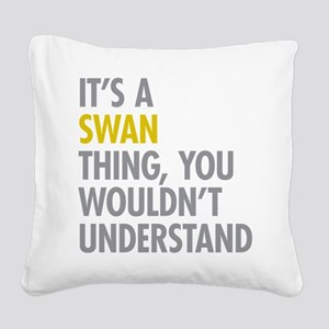 Swan Thing Square Canvas Pillow