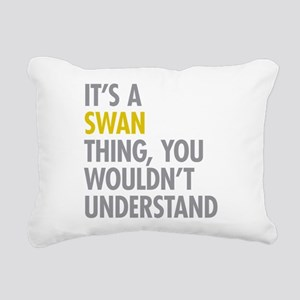Swan Thing Rectangular Canvas Pillow