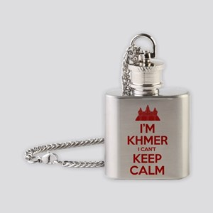 I'm Khmer I Can't Keep Calm Flask Necklace