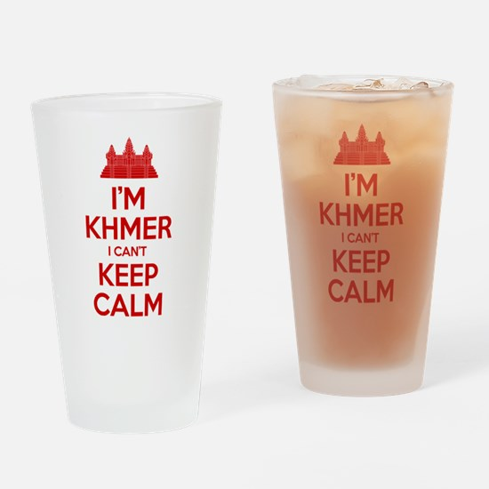 I'm Khmer I Can't Keep Calm Drinking Glass