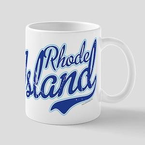 Rhode Island State Script Font Vintage Mugs