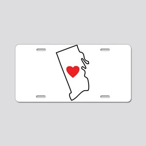I Love Rhode Island Aluminum License Plate