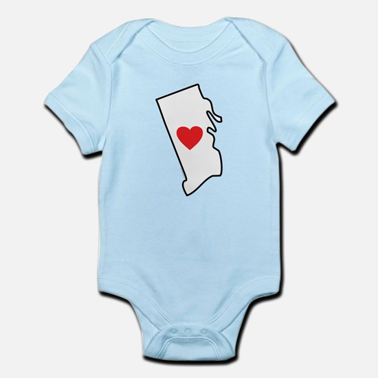 I Love Rhode Island Infant Bodysuit
