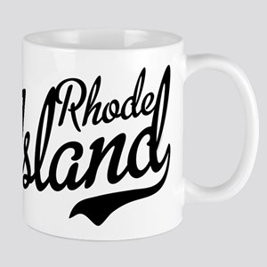 Rhode Island Script Black Mug