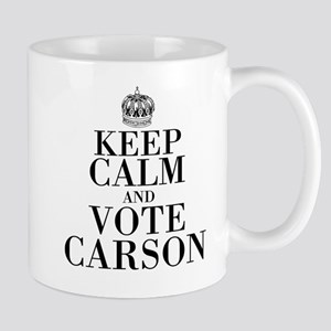 Keep Calm And Vote Carson Mugs
