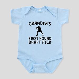 Grandpas First Round Draft Pick Hockey Body Suit