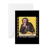 My Happy Monkey Greeting Card