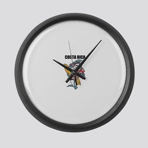 Costa Rica Large Wall Clock
