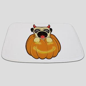 Halloween Pug Bathmat