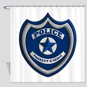 Police Badge Shower Curtain