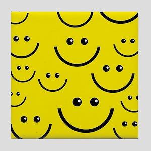 happy face Tile Coaster