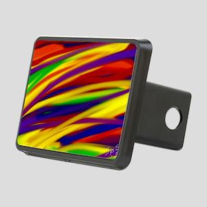 Gay rainbow art Rectangular Hitch Cover