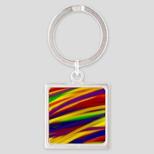 Gay rainbow art Square Keychain