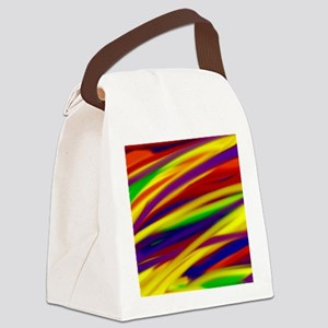 Gay rainbow art Canvas Lunch Bag