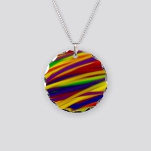 Gay rainbow art Necklace Circle Charm
