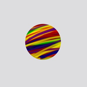 Gay rainbow art Mini Button