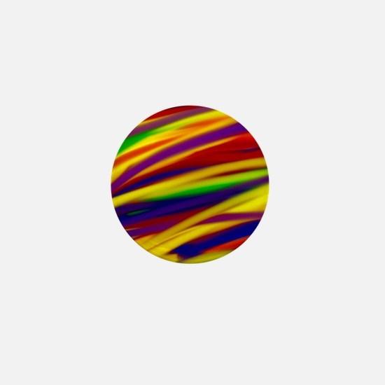 Gay rainbow art Mini Button