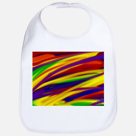Gay rainbow art Bib